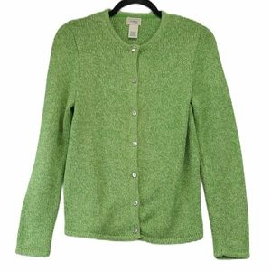 NWOT LL Bean cotton button cardigan